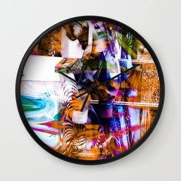 """The Juggler: Remixed 2 Wall Clock"