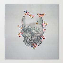 Skull & Butterflies Canvas Print