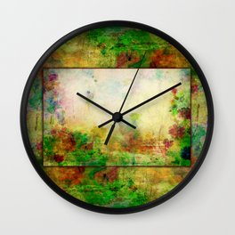 Ginkelmier Land ~ Watercolor Fairy Garden Wall Clock