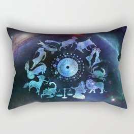 As Above, So Below - Zodiac Illustration Rectangular Pillow