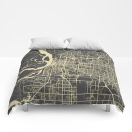 Memphis map Comforters