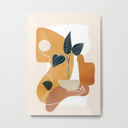 Minimal Abstract Shapes No.74 Metal Print