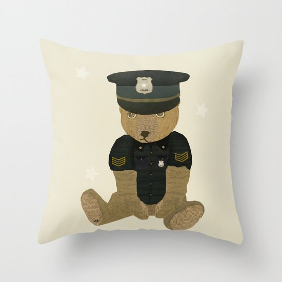 police ted  Throw Pillow