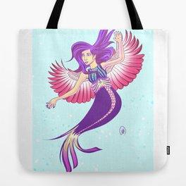 Winged Mermaid Tote Bag