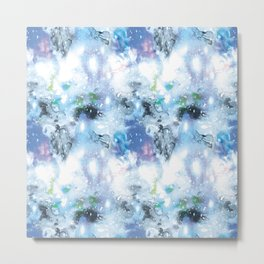 galaxy in blue Metal Print