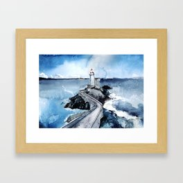 Here to guide you Framed Art Print