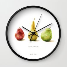 Pears - Friends stand together Wall Clock