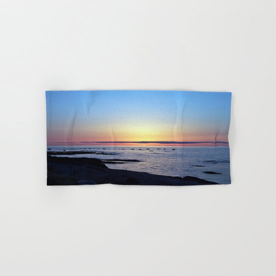 Sun Sets up the River, Across the Sea Hand & Bath Towel
