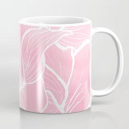 Modern white hand drawn abstrat floral pastel pink watercolor Coffee Mug