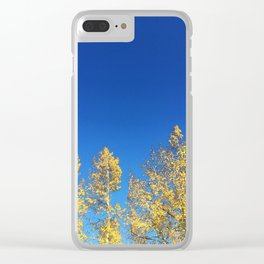 Blue Skies Fall Clear iPhone Case