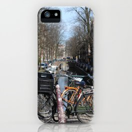 Bike Parked on Canals of Amsterdam iPhone Case