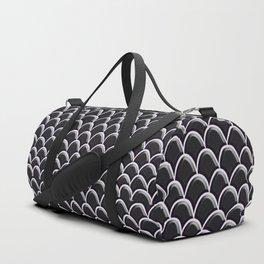 Seigaiha Black Onyx Mermaid Scales Duffle Bag