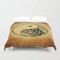ying yang Duvet Covers featuring Ying Yang by WonderfulDreamPicture