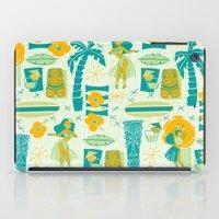 mid century iPad Cases featuring Mid-Century Tiki by Aimee Steinberger