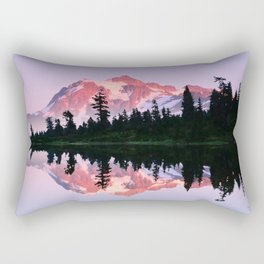ALPINE SUMMER EVENING SUN ON MOUNT SHUKSAN NORTH CASCADE RANGE Rectangular Pillow