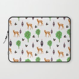 Xmas Deer Pattern Laptop Sleeve