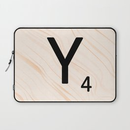 Scrabble Letter Y - Scrabble Art and Apparel Laptop Sleeve
