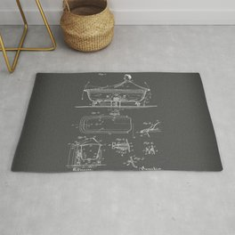 Rocking Oscillating Bathtub Patent Engineering Drawing Rug