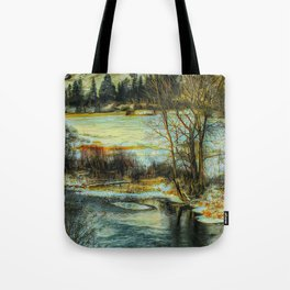 Down By The Waters Edge - Graphic 3 Tote Bag