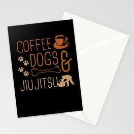 Coffee Dog & Jiu Jitsu Fighter Motives Stationery Cards
