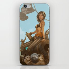 Jacquotte the monkey queen iPhone Skin