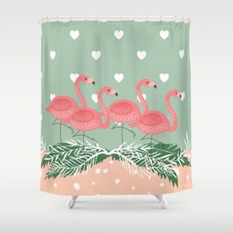 Heart flaming Shower Curtain