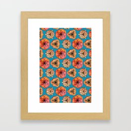 Orange jasmines Framed Art Print