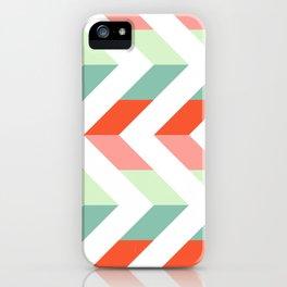 Chevron Raspberry and Peach - Geometric pattern  iPhone Case
