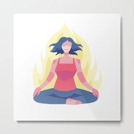 Great Yoga Instructor Metal Print