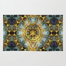 Sacred Geometry Fractal Mandala Rug