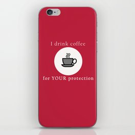Coffee Protection Red iPhone Skin