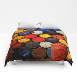 Gasoline Rusty Tin Cans Pattern Comforters