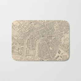 Vintage Map of Bristol England (1851) Bath Mat