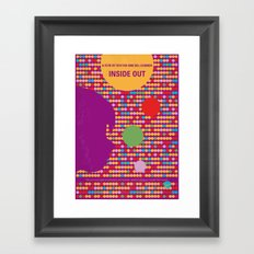 No664 My Inside Out minimal movie poster Framed Art Print