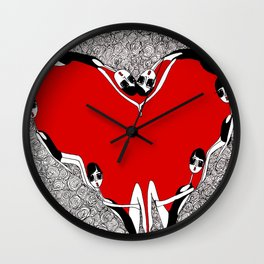 Earthlings make a heart  Wall Clock