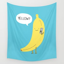Banana on the phone Wall Tapestry