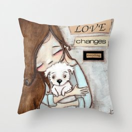Love Changes Everything by Diane Duda Throw Pillow