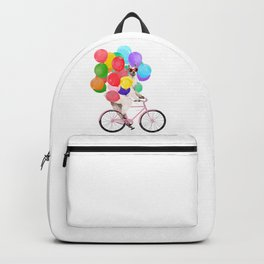 Fashion Llama Riding with Colourful Balloons Backpack