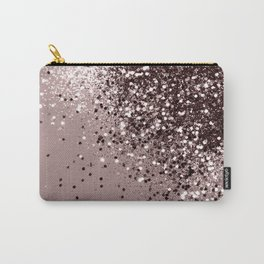 Sparkling Mauve Lady Glitter #1 #shiny #decor #art #society6 Carry-All Pouch