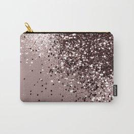 Sparkling Mauve Lady Glitter #1 #shiny #decor #art #society6 Carry-All Pouch