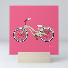 Cruiser Bike: Raspberry Pistachio Mini Art Print