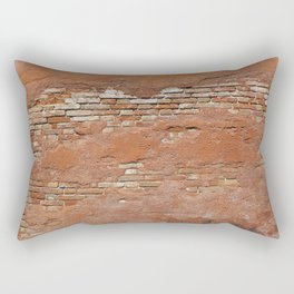 Orange Brick Wall Rectangular Pillow