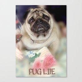 For Pug lovers,Pug Life Photo,pet wall art,decor gift pug lover,Pug Digital Print,pug dog art Canvas Print
