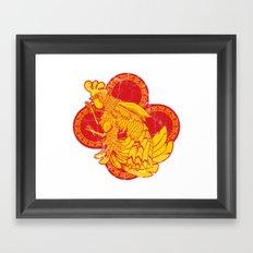 Rooter Red Framed Art Print