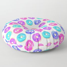 Galaxy Donuts on Cream Floor Pillow