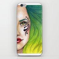 fierce iPhone & iPod Skins featuring Fierce  by StaceyPatinoArt