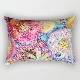 Flowered Table Rectangular Pillow