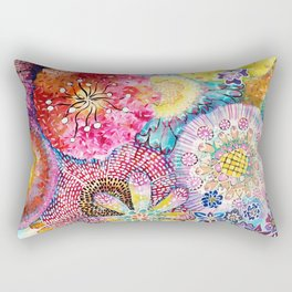 Flowered Table Rectangular Pillow