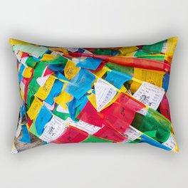 Colorful Tibetan prayer flags Rectangular Pillow