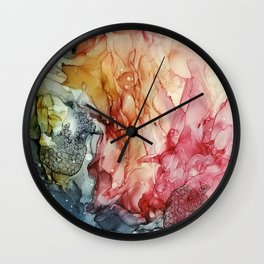 Alcohol ink painting, Abstract painting Wall Clock
